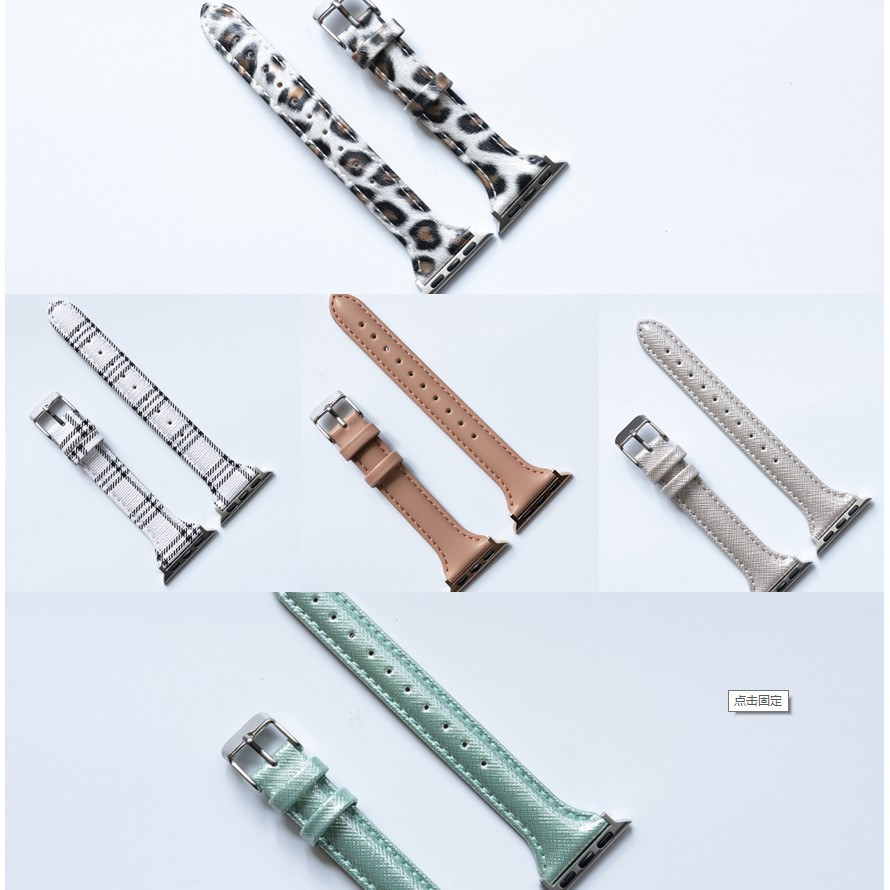 bright color  apple watch strap สายนาฬิกาหนัง iwatch series SE 6 5 4 3 2 1  Leather watch strap 38 40 42 44mm