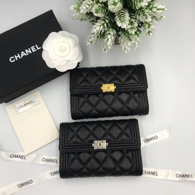 กระเป๋าสตางค์ชาแนล Chanel Boy Wallet หนังแท้ เกรด Hi-end