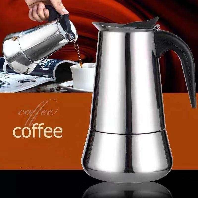 หม้อกาแฟ หม้อต้มกาแฟสด เครื่องชงกาแฟเอสเพรสโซ่ มอคค่า กาต้มกาแฟสด เครื่องชงกาแฟสด เครื่องทำกาแฟ