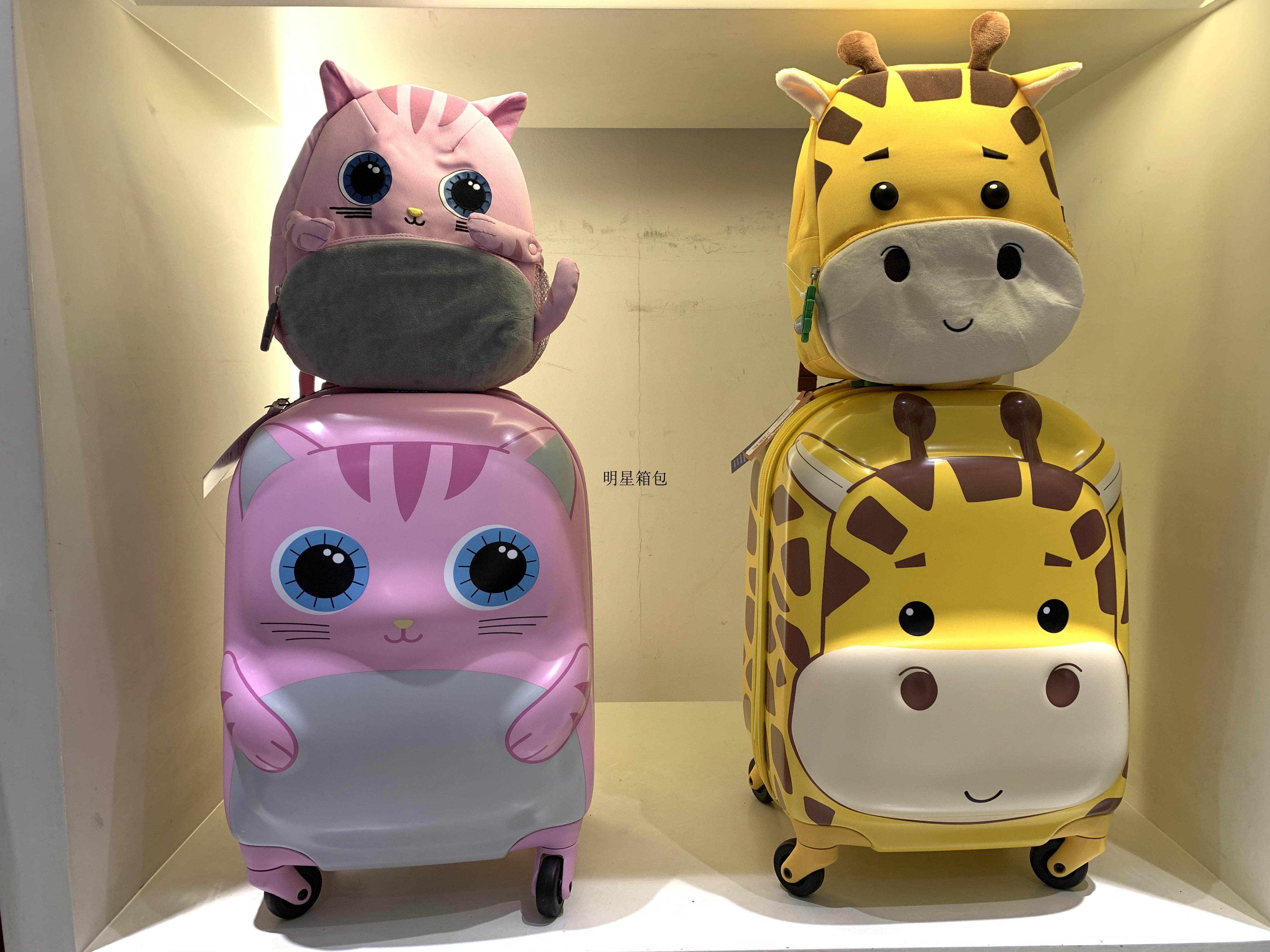 ✴◐ กระเป๋าเดินทางพกพา  กระเป๋ารถเข็นเดินทางกระเป๋าเดินทางเด็ก กระเป๋าเดินทางเด็ก Samsonite U22 กระเป๋ารถเข็นรูปสัตว์น่าร