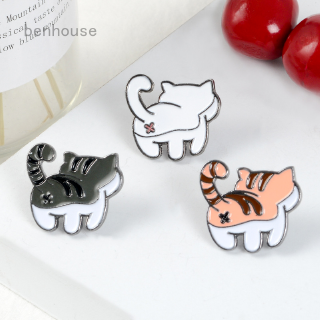 Review Cute Kitty Pin Kawaii Cat Enamel pin Kitty Butt Pinback Badge Fashion Accessory Funny Cat Lover Gift