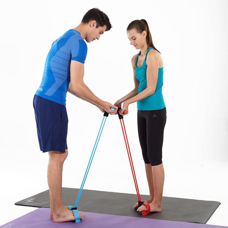 ยางยืดออกกำลังกาย อุปกรณ์กีฬาออกกำลังกาย แบบ 2 ผ้ายืดออกกำลังกาย ยางยืดแรงต้าน  ยางยืดออกกำลังกายแรงต้านสูง