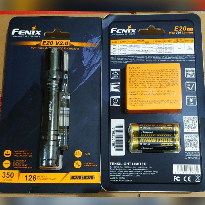 Fenix ไฟฉาย Led E20 สําหรับรถจักรยานยนต์