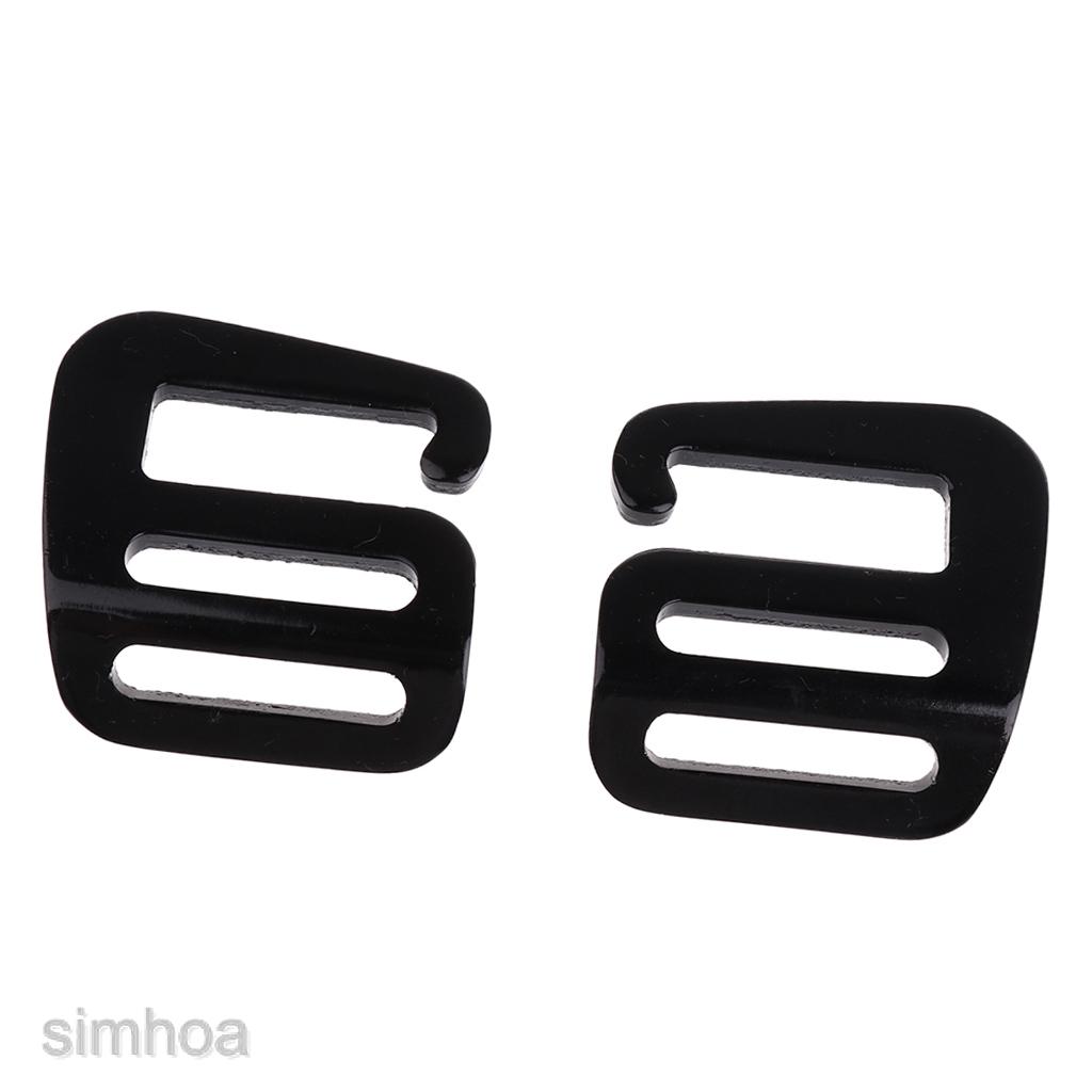 4 Pcs 1/'/' Hook Outdoor Adjust Webbing Buckle Backpack Strap Clip Black Red