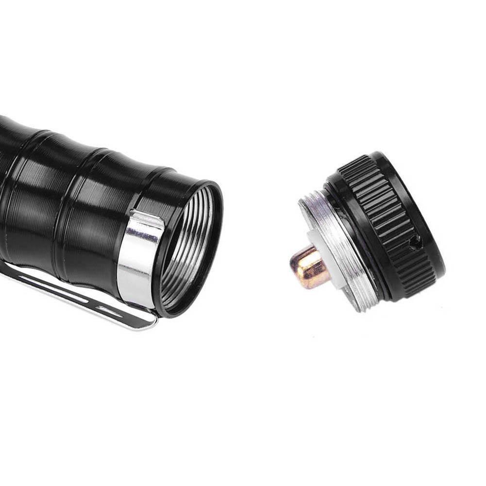 300 Lumens 3 Modes LED Flashlight Torch Lamp Light Outdoor Tool AAA Battery  WT