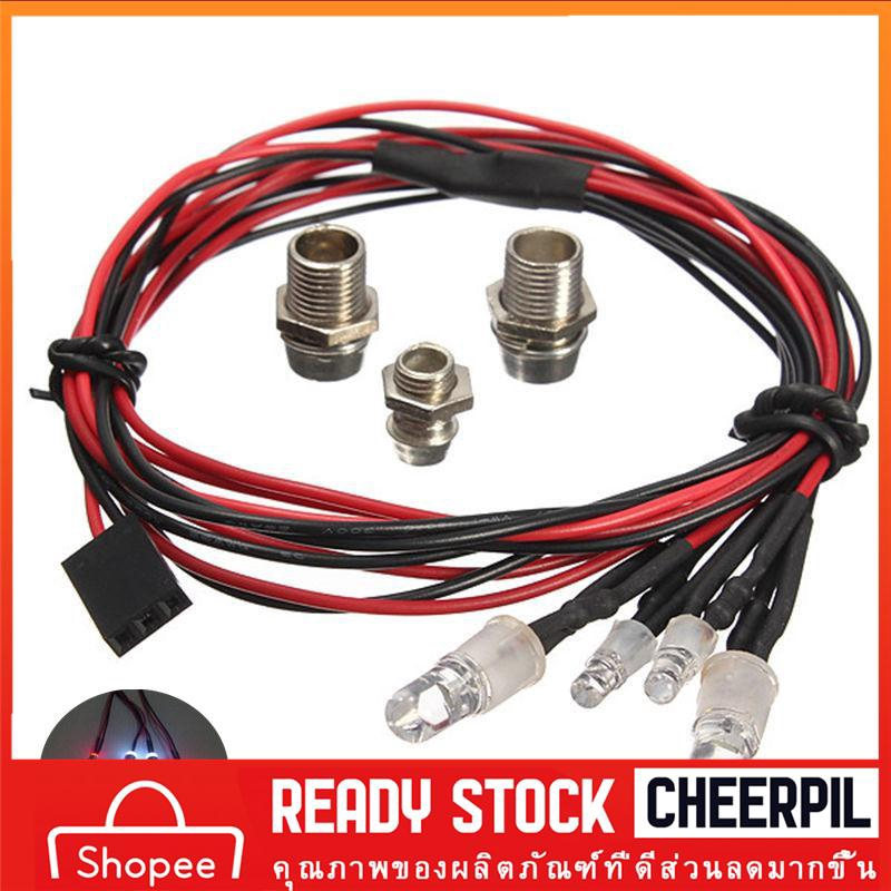 NEW Style RC On-Road Car LED Night 8mm White And 5mm Red Headlamps 4 LED Light