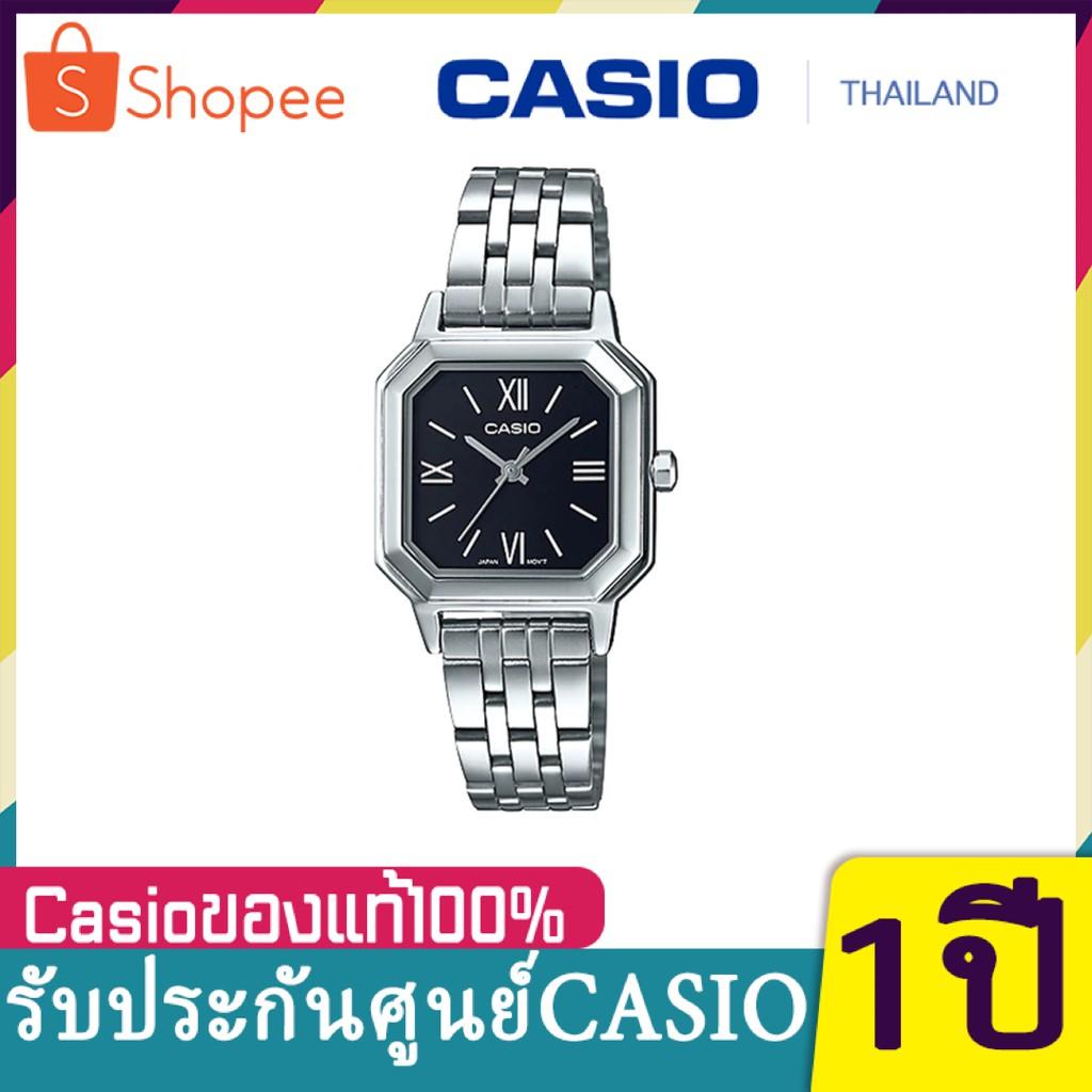 NEW!!! Casio Standard นาฬิกาข้อมือผู้หญิง สายสแตนเลส รุ่น LTP-E169D-1B