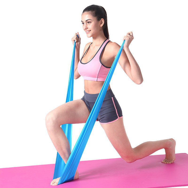 ยางยืดออกกำลังกาย โยคะ พิลาทิสผ้ายืดออกกำลังกาย ยางยืดแรงต้าน  ยางยืดออกกำลังกายแรงต้านสูง