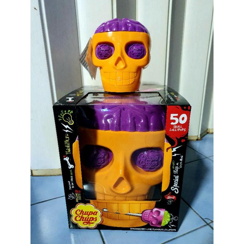 Chupa Chups 3D Skull ลูกอมจูปาจุ๊ปส์ หัวกระโหลก (มี 2 ขนาด)