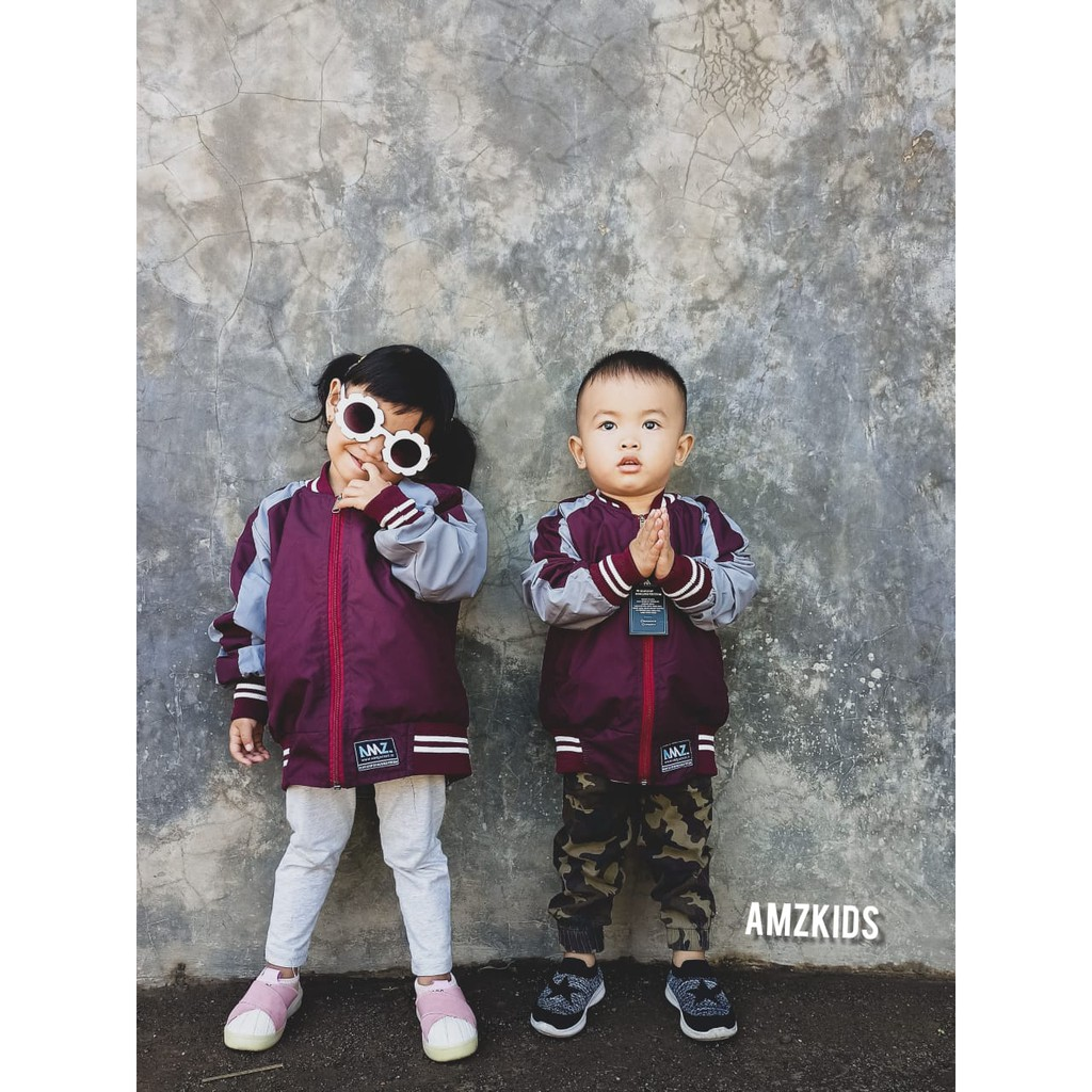 เสื้อแจ็คเก็ตบอมเบอร์เบอร์เบอร์ Bolak Behind Sukajan Series - Amz Jacket