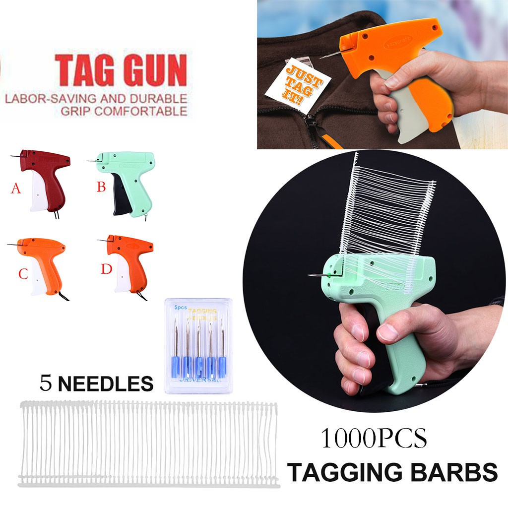 Clothing Price Label Tagging Tag Gun With 1000 pins Fasterners Package Deal