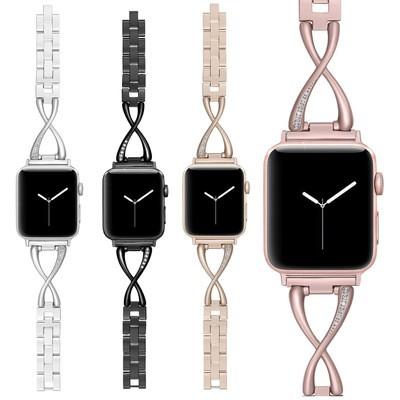 สายนาฬิกา Apple Watch Straps เหล็กกล้าไร้สนิม สาย Applewatch Series 6 5 4 3 Stainless Steel สายนาฬิกาข้อมือ for apple wa