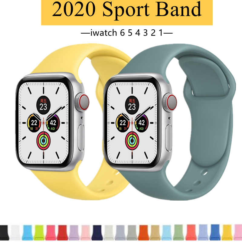 สร้อยข้อมือสายนาฬิกาสำหรับ Apple Watch 6 5 4 3 2 1 Se กีฬาสำหรับ 38mm 42mm 40mm 44mm Series Series Series สี 1-12 Applewatchwatchband Applewatch สายนาฬิกา นาฬิกาข้อมือwatch