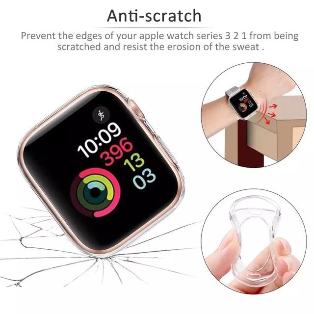 Case AppleWatch เคส AppleWatch Tpuซิลิโคน ใส watch 1/2/3/4/5/6  watch 5 W55 p90 p70 p 80