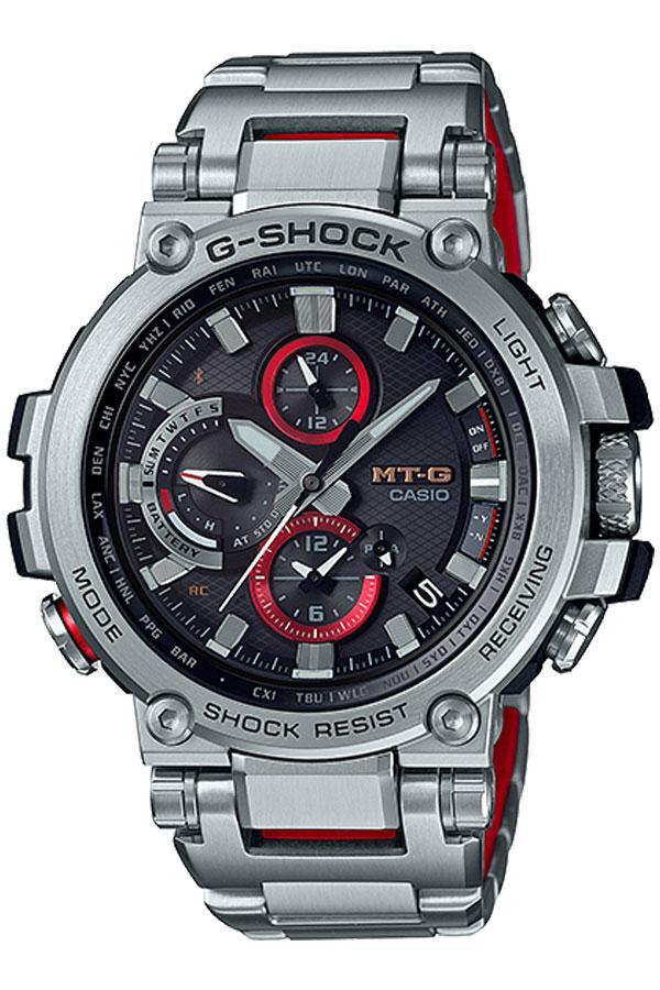 Casio G-Shock นาฬิกาข้อมือผู้ชาย สายสแตนเลส รุ่น MTG-B1000D,MTG-B1000D-1A - สีเงิน