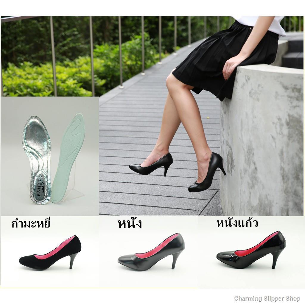 Thailand Hot Sale🦄รองเท้า รองเท้าคัชชูนักศึกษา รองเท้าคัชชูสีดำ  รองเท้าส้นสูง