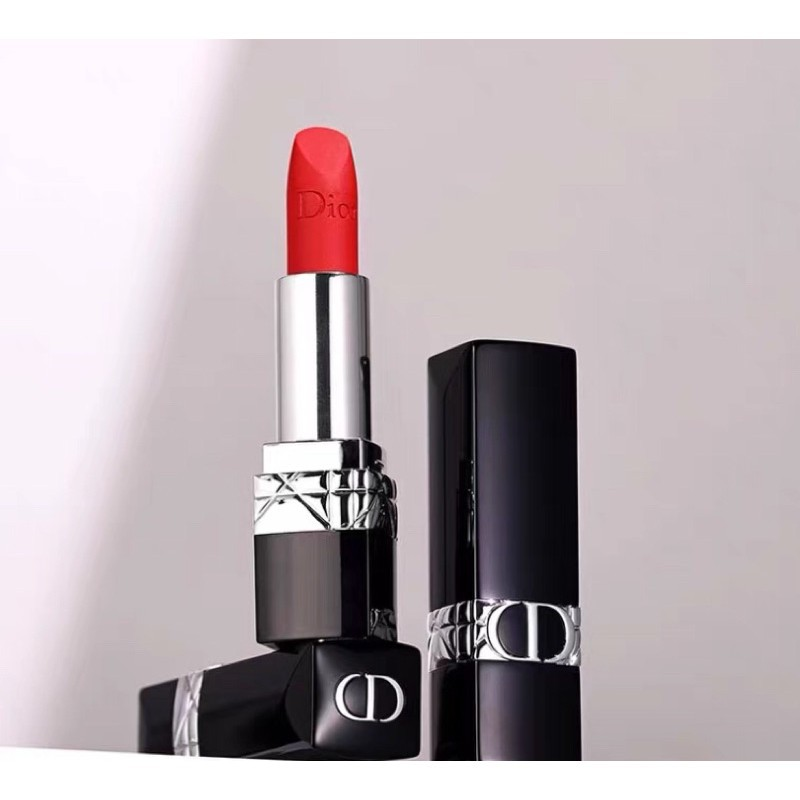 อนิเมะ □﹍☒ลิปสติก Dior Lip Glow Rouge Dior Matte Lipstick Couture Colour Comfort and Wear Lipstick, 999 ลิปสติกดิออร์ ล