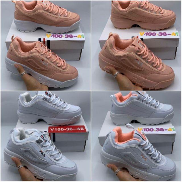รองเท้าแฟชั่น พร้อมส่ง รองเท้าผ้าใบFILA sz. 36-45 รองเท้าวิ่ง รองเท้าออกกำลังกาย รองเท้าแฟชั่น รองเท้าลำลอง ybNJ