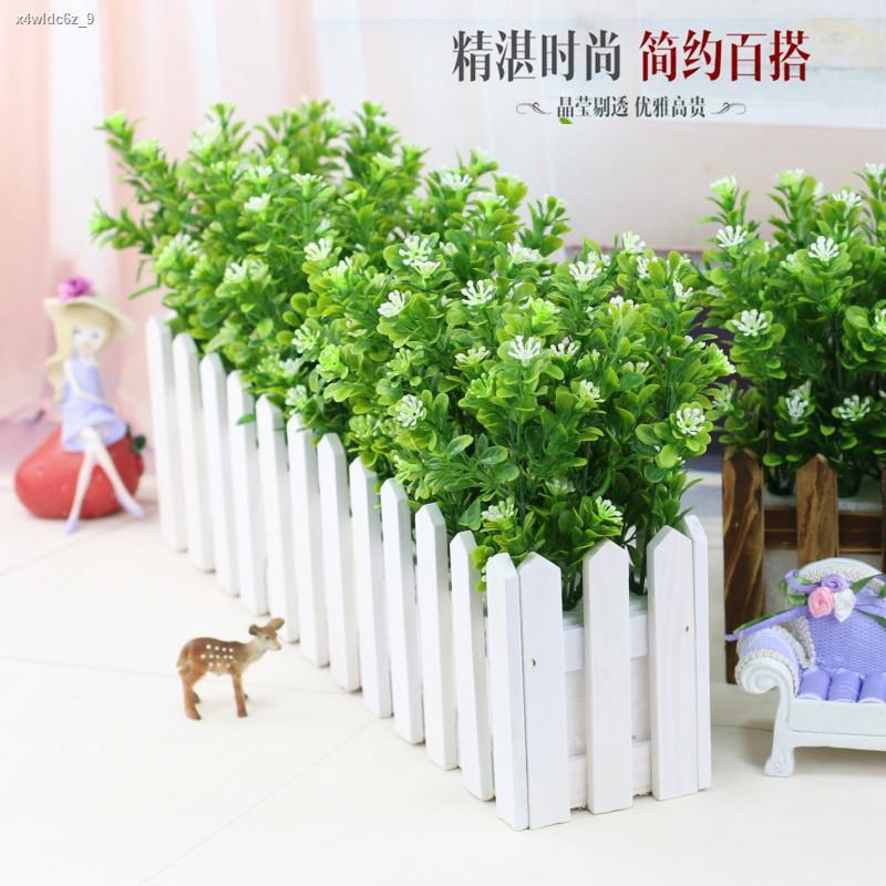 การจำลองพันธุ์ไม้อวบน้ำ✸เลียนแบบปลอม พืชสีเขียวดอกไม้ปลอมตกแต่งในร่มและกลางแจ้งรั้วตกแต่งมิลานหญ้ากระถางต้นไม้จำลองดอกไม