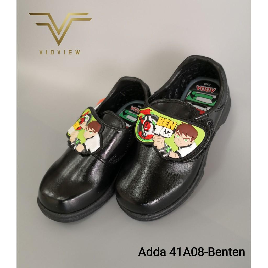 รองเท้าคัชชูผู้ชาย รองเท้าหนังผู้ชาย VIDVIEW !!ลดสนั่น!! รองเท้านักเรียน เด็กชาย Adda 41A08 แปะเทป ลาย Ben10 เบอร์ 25-33