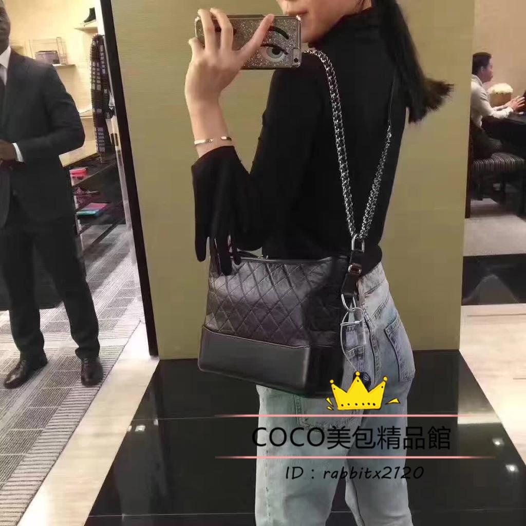 [KX]คุณภาพสูงสุด CHANEL Chanel GABRIELLE HOBO small hobo bag chain strap bag shoulder bag A91810