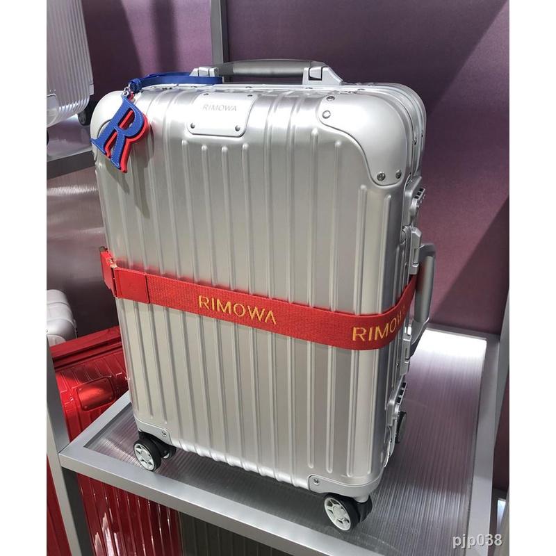 กระเป๋าเดินทางล้อลาก☬♙☃RIMOWA/RIMOWA รถเข็นกระเป๋าเดินทางแบบโลหะ กระเป๋าเดินทางแบบโลหะ อะลูมิเนียม-แมกนีเซียมอัลลอยด์ ห้