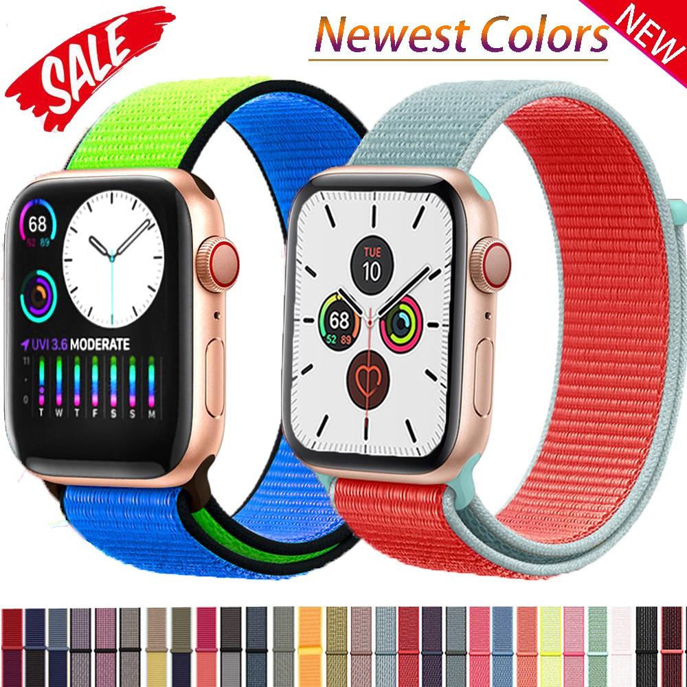 สายนาฬิกาข้อมือไนล่อนสำหรับ iWatch Series 6 SE 5 4 3 2 1 Apple Watch Band 40 มม. 44 มม. 38 มม. 42 มม.