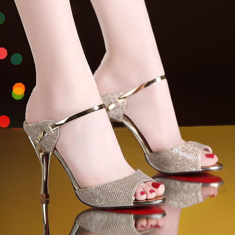 รองเท้าส้นสูง หัวแหลม ส้นเข็ม ใส่สบาย New Fshion รองเท้าคัชชูหัวแหลม  รองเท้าแฟชั่นใหม่รองเท้าแตะส้นสูงผู้หญิงรองเท้าส้น