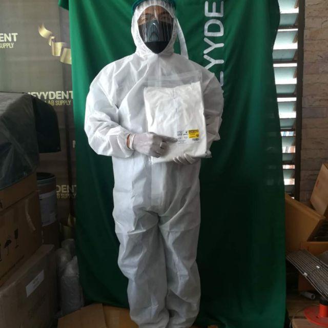 พร้อมส่ง ชุดPPE  ชุดหมีป้องกันสารเคมี MT789