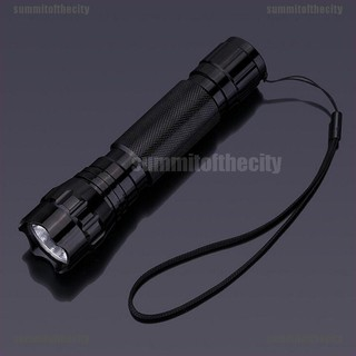 UV LED 395NM Ultra Violet Blacklight Flashlight Torch 18650 Rechargeable Lamp