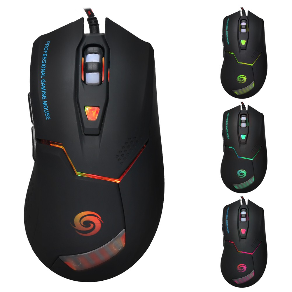 USB Wired Pro Gaming Mouse 6 Button 3200DPI Optical Computer Mice For PC Laptop