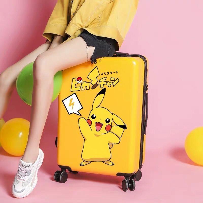 [กระเป๋าเดินทาง ?? แนะนำโดยผู้จัดการ] กระเป๋านักเรียนหญิงเกาหลีรุ่นรถเข็นกล่องสุทธิหนังสีแดงกระเป๋าเดินทางใบเล็กสดรหัสผ่านกล่องการ์ตูนผู้ชาย [Glamorous.th]