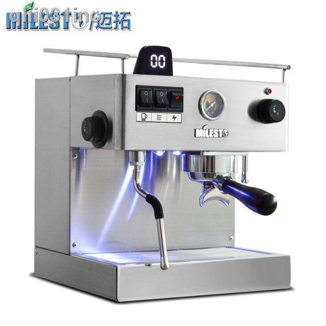 หม้อกาแฟﺴ☑MILESTO/Maxtor EM-19-M3 เครื่องชงกาแฟกึ่งอัตโนมัติจากอิตาลี เครื่องชงกาแฟ M2 เครื่องทำไอน้ำร้อนแบบอิสระในครัวเ