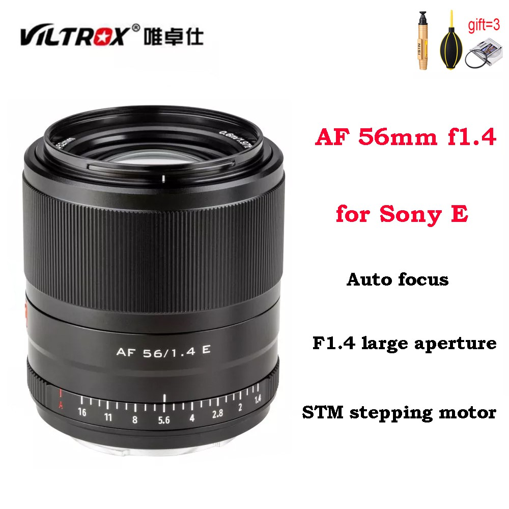 Viltrox 56mm f1.4 large aerture STM AF Auto focus ASC lens for Sony Emount Mirrorless Cameras A7M3 A9 A7RII A7C A7RIII A