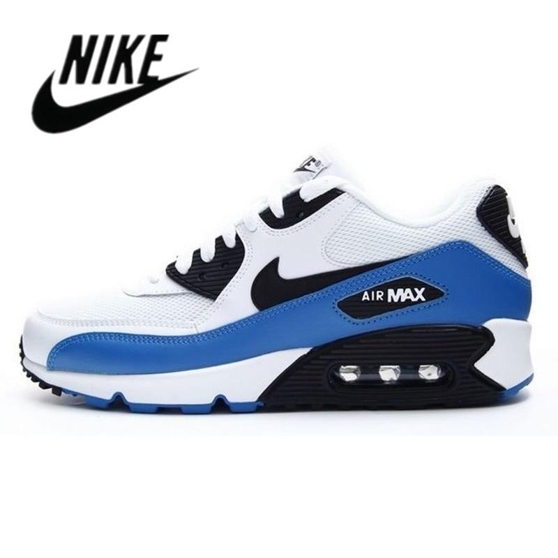 มาใหม่ Nike-Air Max 90 Airmax คลาสสิกสีดำสีขาวผู้ชายผู้หญิงสีฟ้าสีแดงสะดวกบรองเท้าวิ่ง