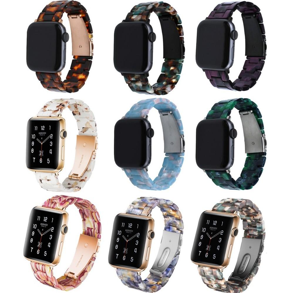 สายนาฬิกา Apple Watch Resin Straps เรซิน สาย Applewatch Series 6 5 4 3 2 1 /  Apple Watch SE Stainless Steel สายนาฬิกาข้