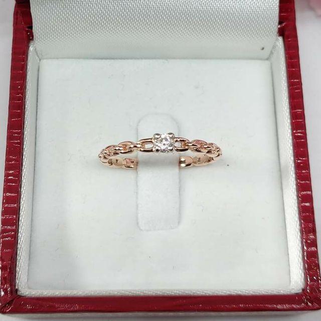 แหวนเพชรลายโซ่ ทองคำแท้ ราคาโรงงาน