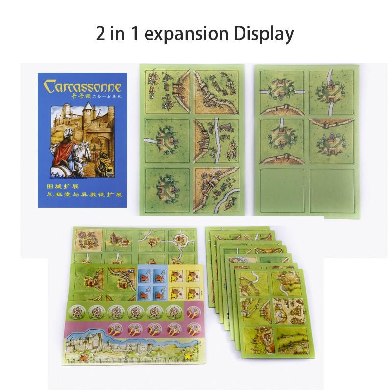 Mini Expansion Neuf avec règles anglaises CARCASSONNE Carte chips