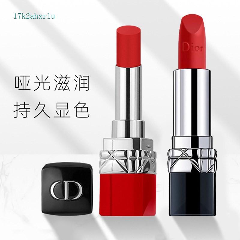 ราคาถูก✣Dior Dior lipstick 999 matte 888 moisturizing 740772 lipstick clarinet gift box เคาน์เตอร์แบรนด์ใหญ่ของแท้