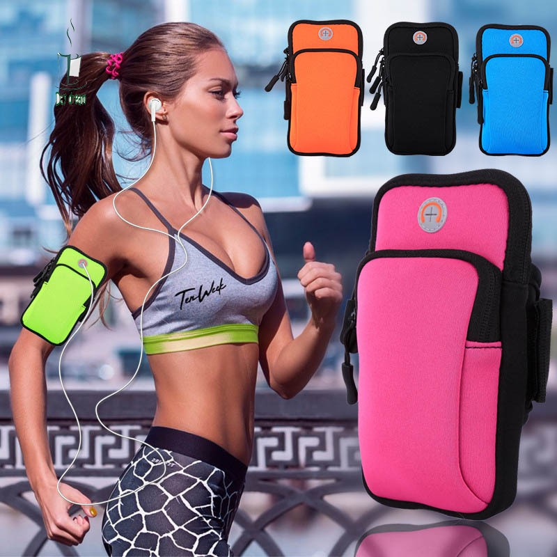 Fitness Running Cycling Key Phone Belt Pouch Elastic Sport Belly Waist Band Bag