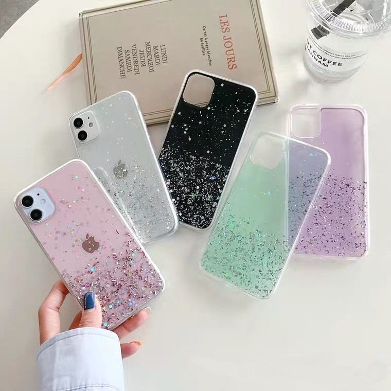 เคส Samsung A20S A10S A9 A7 A6 Note 10 9 8 Pro Sequin Glitter soft TPU Case / PTD
