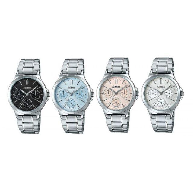 นาฬิกาข้อมือผู้หญิง Casio สายสแตนเลส - แท้100%