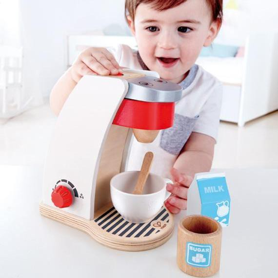 Hape ของเล่นไม้ เครื่องชงกาแฟของฉัน My Coffee Machine ของเล่น เด็ก ของเล่นทำอาหารสำหรับเด็ก 3 ปีขึ้นไป