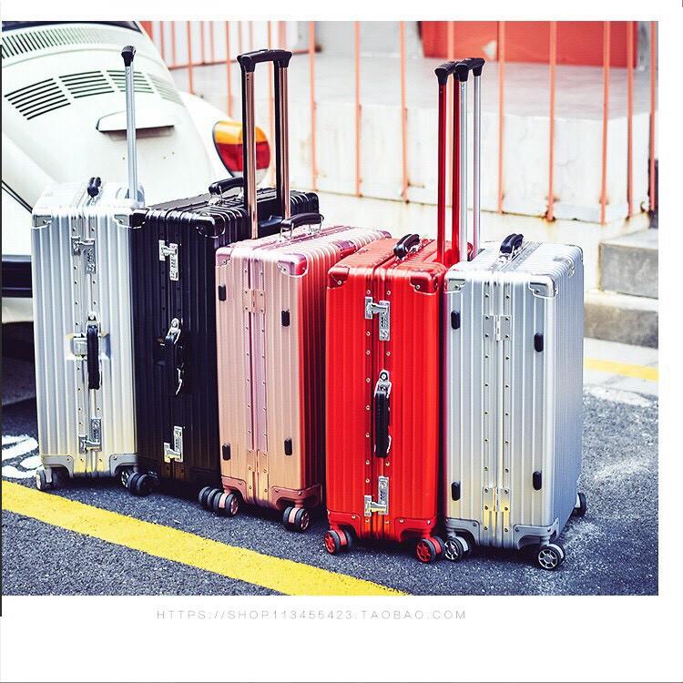 กระเป๋าเดินทางขนาด 24 นิ้ว โครงอะลูมิเนียม อลูมิเนียม วัสดุ ABS+PC ฟรี!!! ผ้าคลุมกระเป๋า