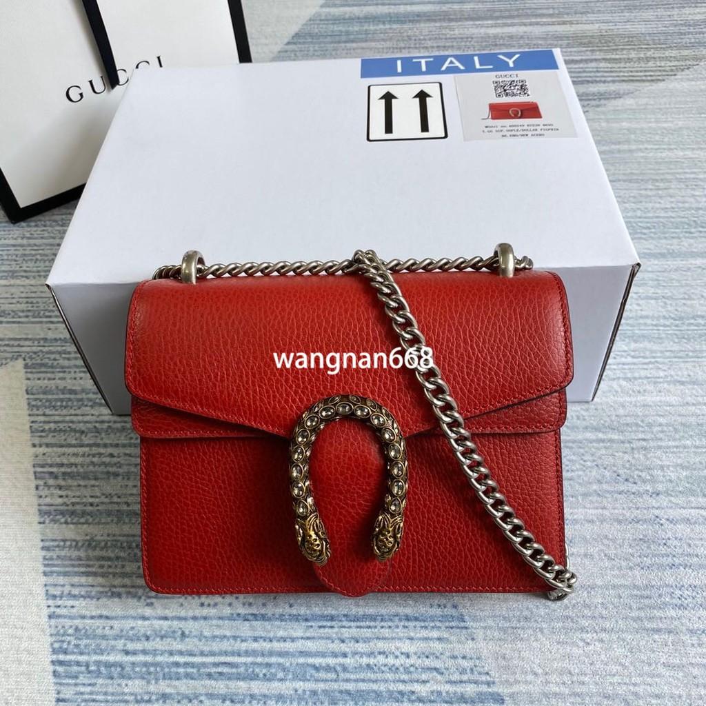 100% GUCCI / Classic Style / 421970 / Dionysus Series / mini Bag / Red / สุภาพสตรี / กระเป๋าสะพาย / กระเป๋าหนัง