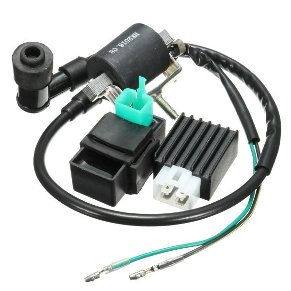 Motorcycle Ignition Coil CDI Unit Rectifier Regulator Fits for 110cc 125cc  140cc
