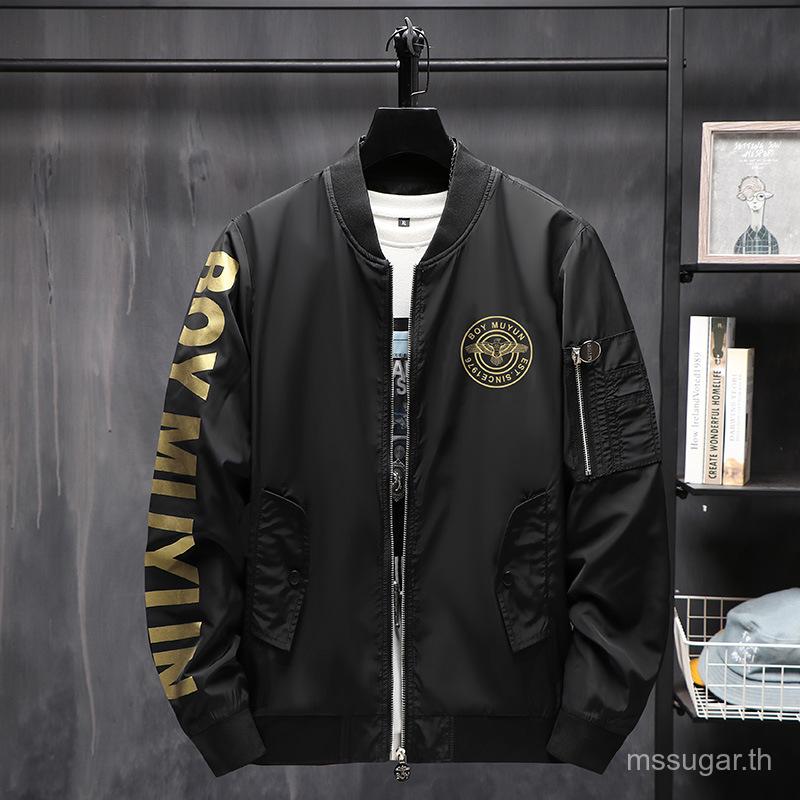chun qiu kuan MenBOYJacket Jacket Fashion Brand Fashion Flight Suit Jacket Baseball Jacket Fashion Casual Jacket KryX