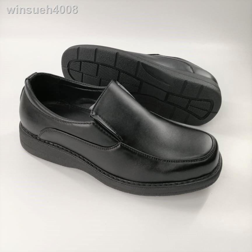 แจ็คเก็ตหนังผู้ชาย✗№▨(851-6616) Bata รองเท้าคัชชูผู้ชายบาจาแบบสวมสีดำรหัส 851 6616