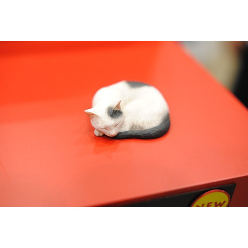 ஐ►△Resin Figure Kit Sleeping Cat of Osamu Moriguchi Unpainted Garage