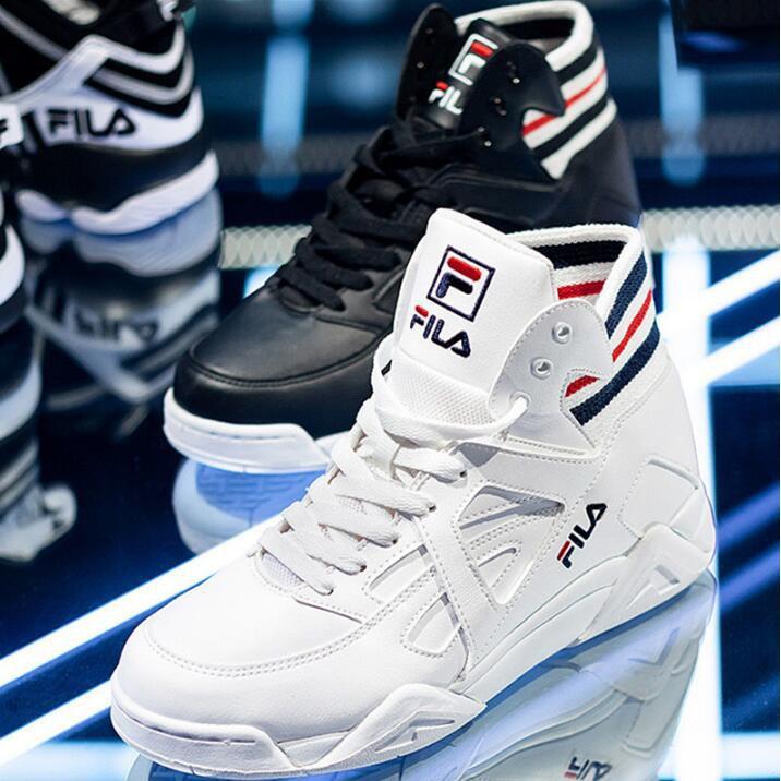 [Jiaye]Fila Fila กรง tc ผู้ชายและผู้หญิงสูงด้านบนรองเท้ากีฬาลำลองสวมใส่รองเท้าวิ่ง FS1HTA1021X